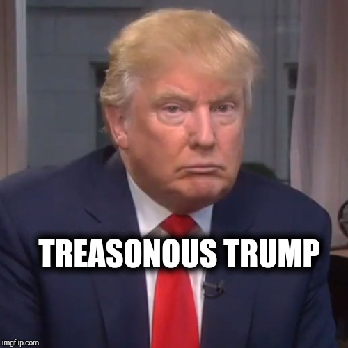 The Face of Treason | TREASONOUS TRUMP | image tagged in treason,impeach trump,trump putin,traitor,so true memes,political meme | made w/ Imgflip meme maker