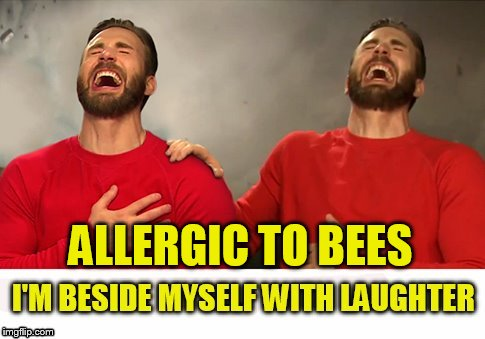 ALLERGIC TO BEES | made w/ Imgflip meme maker