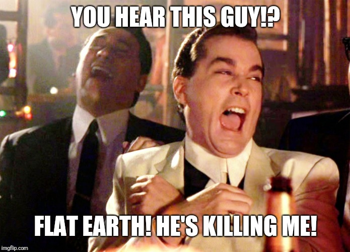 Good Fellas Hilarious Meme | YOU HEAR THIS GUY!? FLAT EARTH! HE'S KILLING ME! | image tagged in memes,good fellas hilarious | made w/ Imgflip meme maker