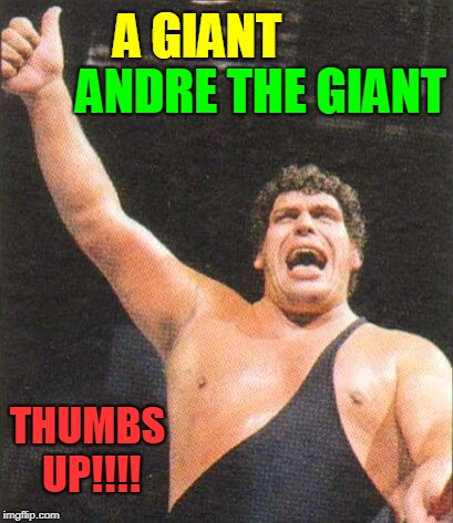 A GIANT THUMBS UP!!!! ANDRE THE GIANT | made w/ Imgflip meme maker