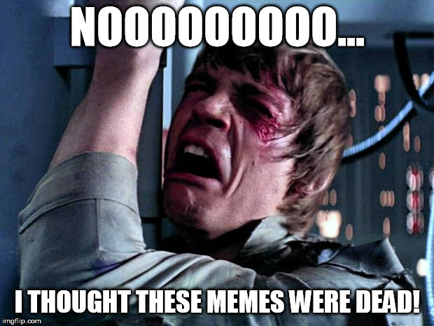 Luke Skywalker No Era Penal | NOOOOOOOOO... I THOUGHT THESE MEMES WERE DEAD! | image tagged in luke skywalker no era penal | made w/ Imgflip meme maker