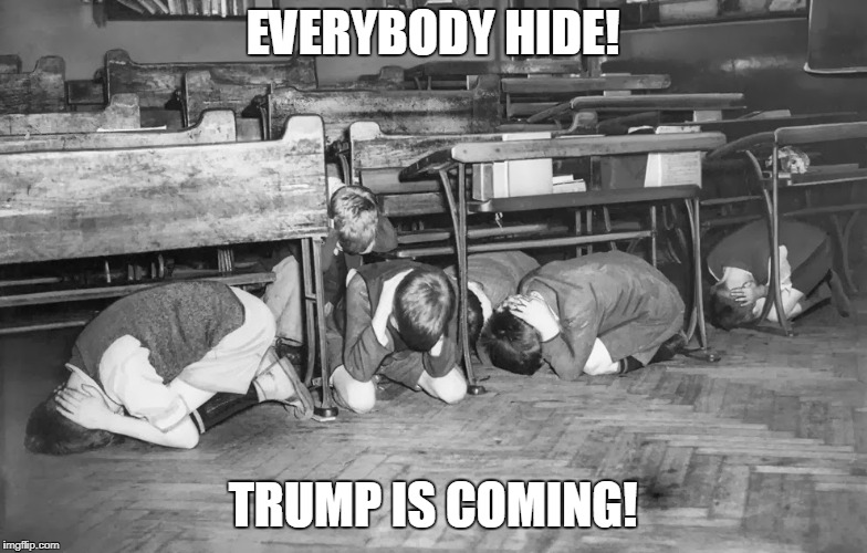 EVERYBODY HIDE! TRUMP IS COMING! | made w/ Imgflip meme maker