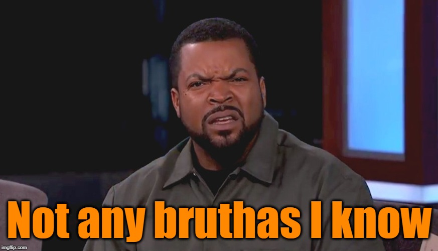 Really? Ice Cube | Not any bruthas I know | image tagged in really ice cube | made w/ Imgflip meme maker