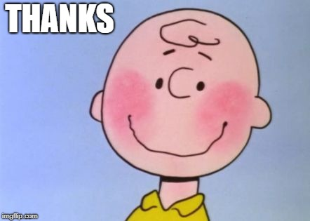 charlie brown | THANKS | image tagged in charlie brown | made w/ Imgflip meme maker