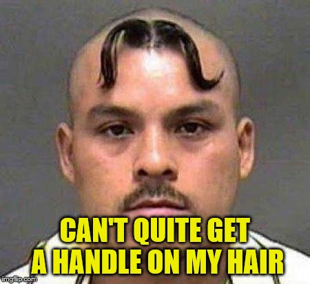 CAN'T QUITE GET A HANDLE ON MY HAIR | made w/ Imgflip meme maker