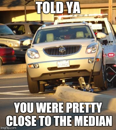 TOLD YA YOU WERE PRETTY CLOSE TO THE MEDIAN | made w/ Imgflip meme maker