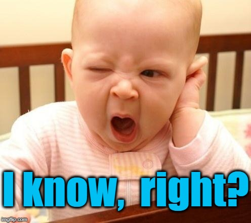 yawn baby | I know,  right? | image tagged in yawn baby | made w/ Imgflip meme maker