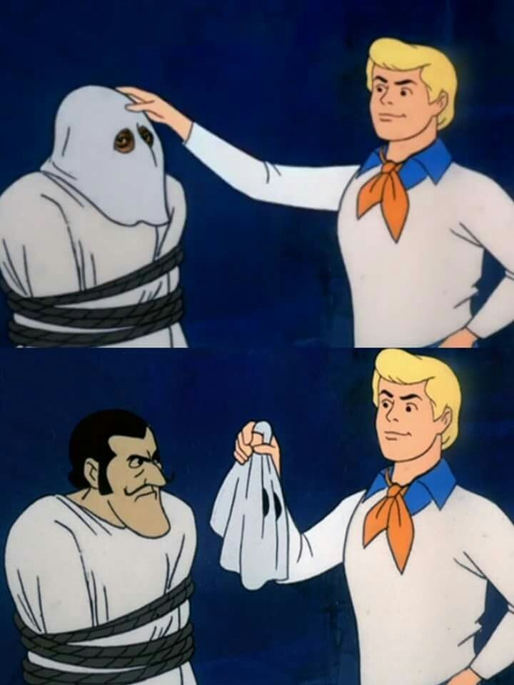 Scooby doo mask reveal Blank Template - Imgflip