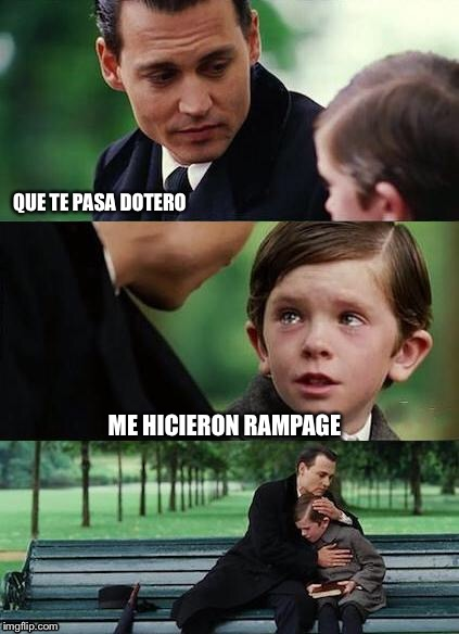 crying-boy-on-a-bench | QUE TE PASA DOTERO ME HICIERON RAMPAGE | image tagged in crying-boy-on-a-bench | made w/ Imgflip meme maker