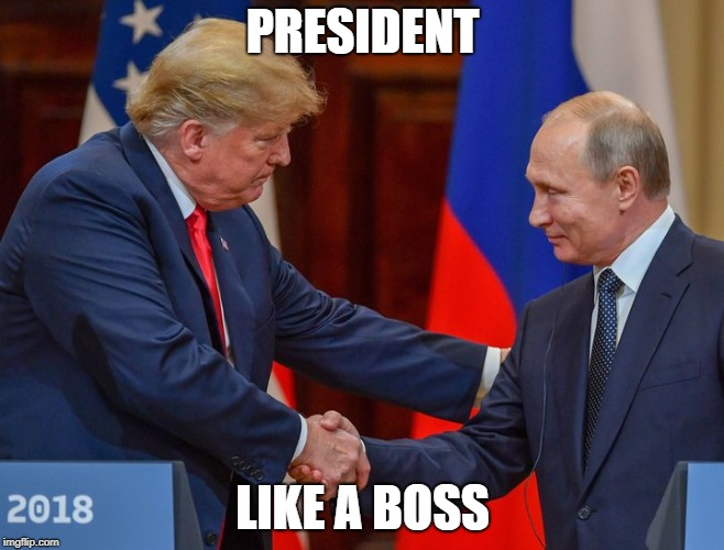 PRESIDENT LIKE A BOSS | image tagged in president donald trump | made w/ Imgflip meme maker