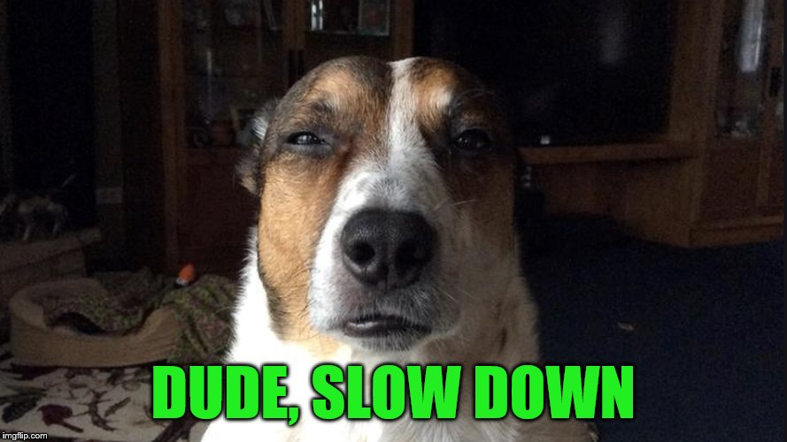 DUDE, SLOW DOWN | made w/ Imgflip meme maker