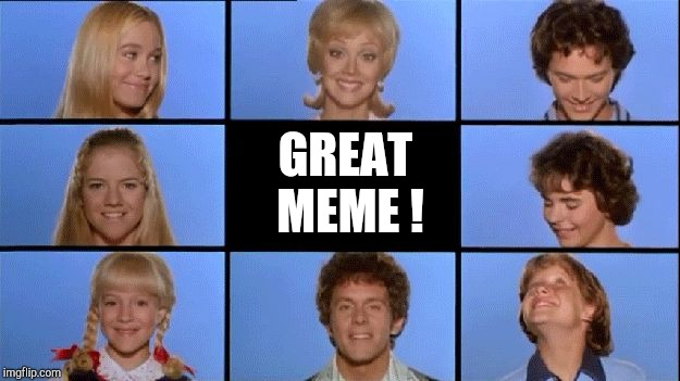 Brady Bunch | GREAT MEME ! | image tagged in brady bunch | made w/ Imgflip meme maker