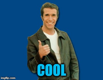 the Fonz | COOL | image tagged in the fonz | made w/ Imgflip meme maker