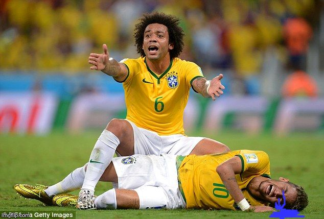 Marcelo - Neymar | image tagged in marcelo - neymar | made w/ Imgflip meme maker