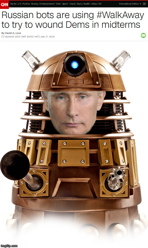 The bots are back | #WALKAWAY | image tagged in memes,russian bots,walkaway,meme,funny,midterms | made w/ Imgflip meme maker