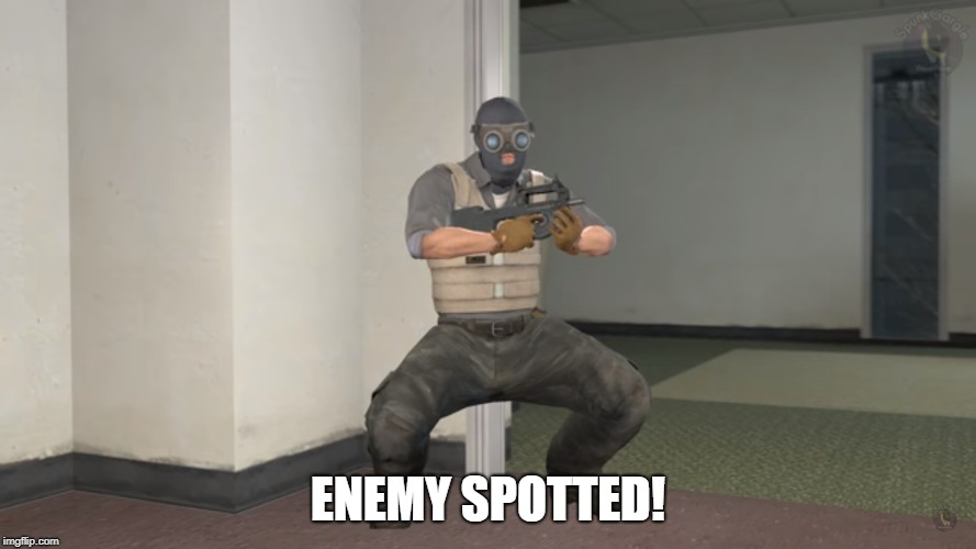 Rainbow Six Siege Recruit's new Elite Skin | ENEMY SPOTTED! | image tagged in rainbow six siege,enemy,spotted,ubisoft,funny,memes | made w/ Imgflip meme maker