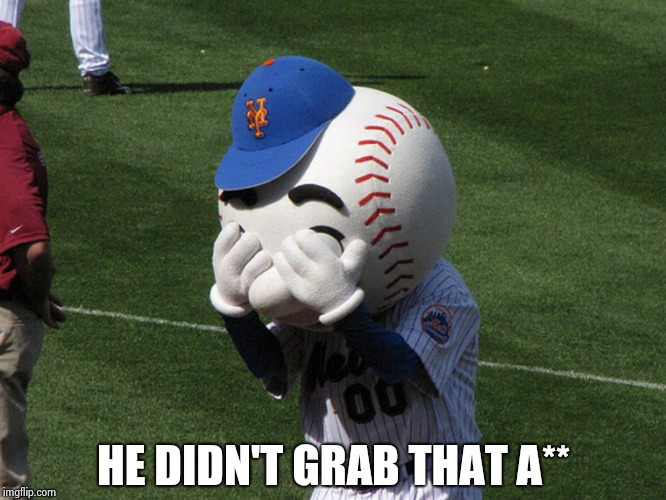 Mr. Met | HE DIDN'T GRAB THAT A** | image tagged in mr met | made w/ Imgflip meme maker
