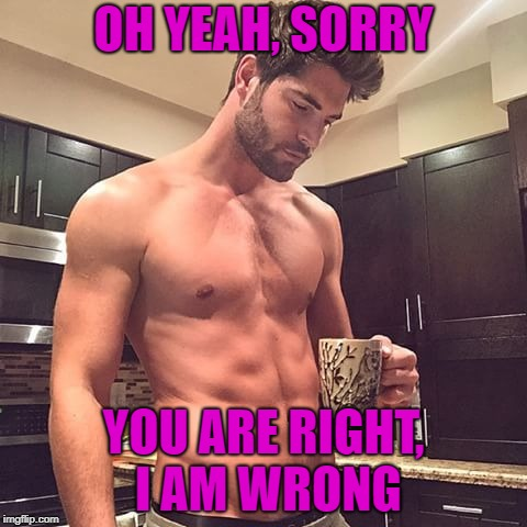 OH YEAH, SORRY YOU ARE RIGHT, I AM WRONG | made w/ Imgflip meme maker