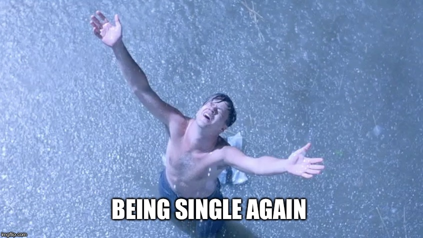 Now that I think about it | BEING SINGLE AGAIN | image tagged in memes,single | made w/ Imgflip meme maker