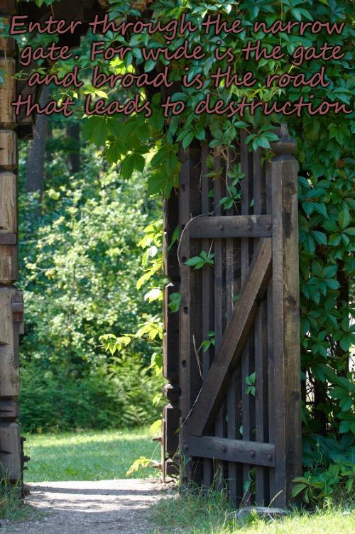 Matthew 7:13 The Narrow Gate - Imgflip
