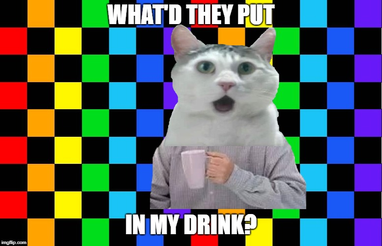 WHAT'D THEY PUT IN MY DRINK? | made w/ Imgflip meme maker