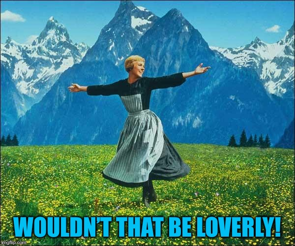 Sound of Music | WOULDN'T THAT BE LOVERLY! | image tagged in sound of music | made w/ Imgflip meme maker