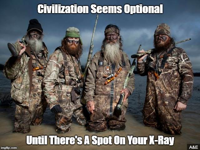 """Civiliation Seems Optional, Until..."" 