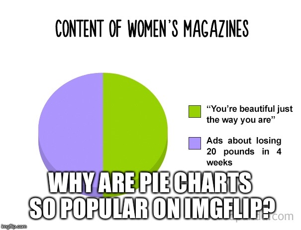 It's just a circle | WHY ARE PIE CHARTS SO POPULAR ON IMGFLIP? | image tagged in pie chart,circle | made w/ Imgflip meme maker