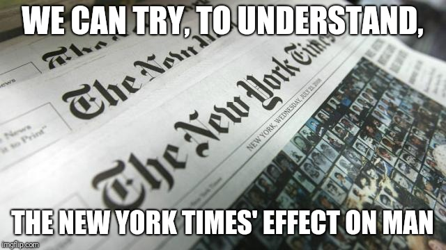 WE CAN TRY, TO UNDERSTAND, THE NEW YORK TIMES' EFFECT ON MAN | made w/ Imgflip meme maker