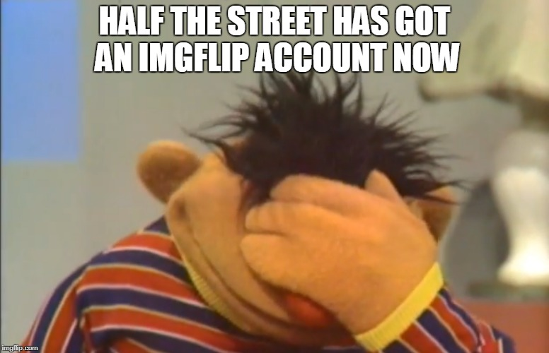 HALF THE STREET HAS GOT AN IMGFLIP ACCOUNT NOW | made w/ Imgflip meme maker