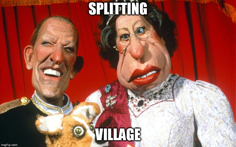 SPLITTING; VILLAGE | made w/ Imgflip meme maker