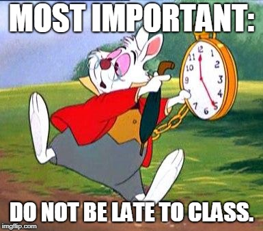 "White Rabbit ""I'm late!"" 