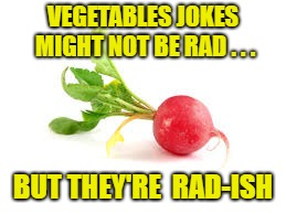 Radish | VEGETABLES JOKES MIGHT NOT BE RAD . . . BUT THEY'RE  RAD-ISH | image tagged in radish | made w/ Imgflip meme maker
