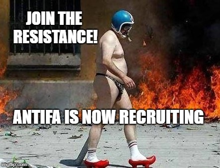 Antifa is now recruiting. | JOIN THE RESISTANCE! ANTIFA IS NOW RECRUITING | image tagged in antifa,democrats,liberals,donald trump,drain the swamp,hillary clinton | made w/ Imgflip meme maker
