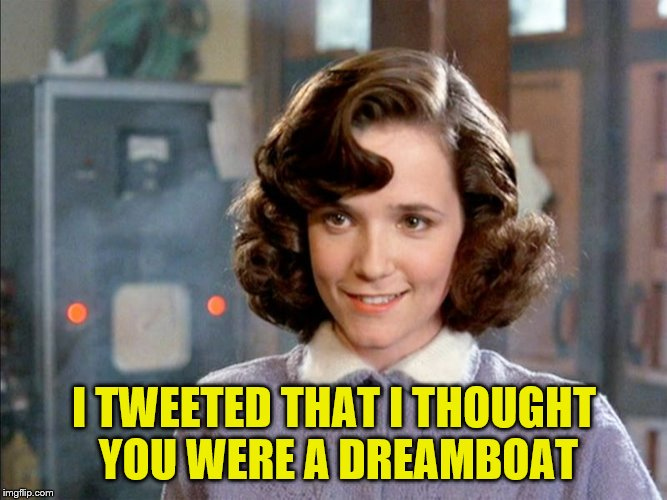 I TWEETED THAT I THOUGHT YOU WERE A DREAMBOAT | made w/ Imgflip meme maker