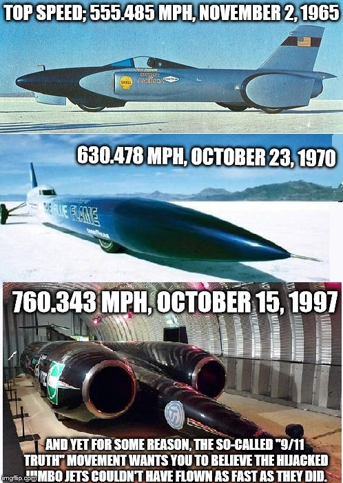 "Land Speed Records vs. ""9/11 truth"" cults 