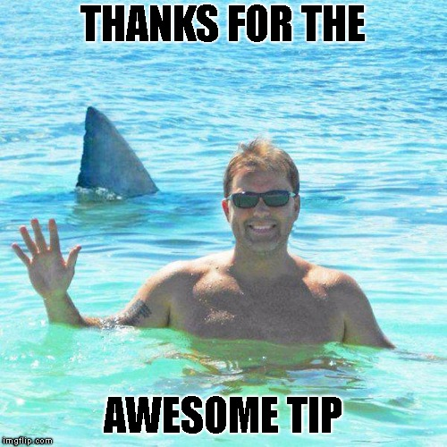 THANKS FOR THE AWESOME TIP | made w/ Imgflip meme maker