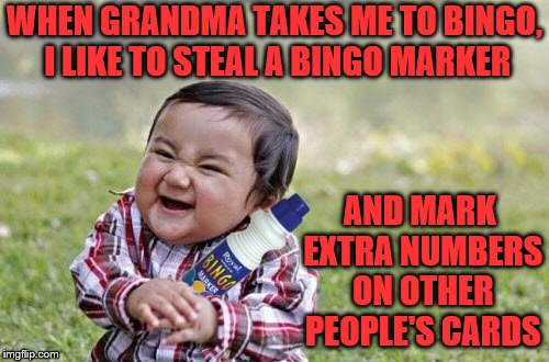 """Why does the boy laugh everyone someone calls bingo at his table?"" 