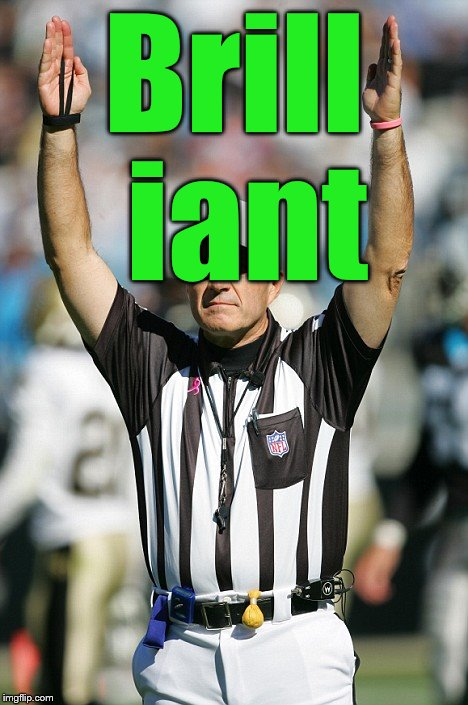 TOUCHDOWN! | Brill iant | image tagged in touchdown | made w/ Imgflip meme maker