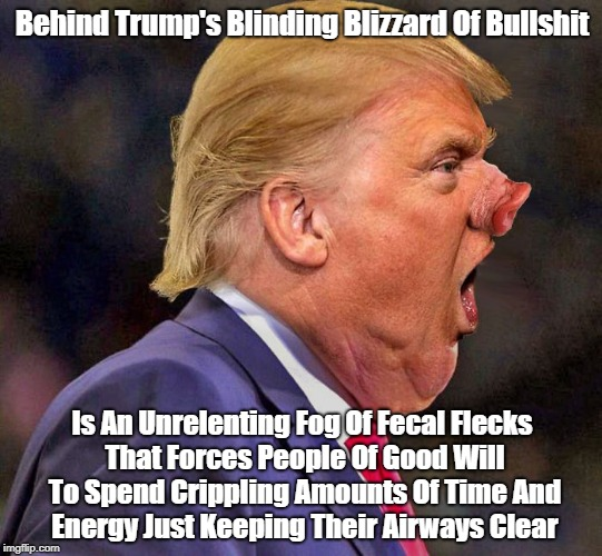 """Behind Trump's Blinding Blizzard Of Bullshit..."" 