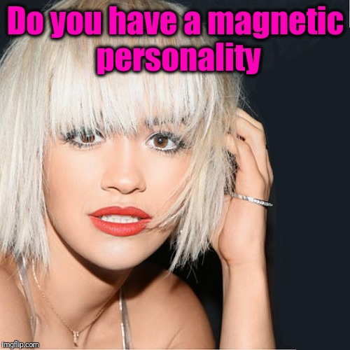 ditz | Do you have a magnetic personality | image tagged in ditz | made w/ Imgflip meme maker