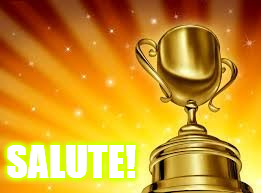 Award | SALUTE! | image tagged in award | made w/ Imgflip meme maker