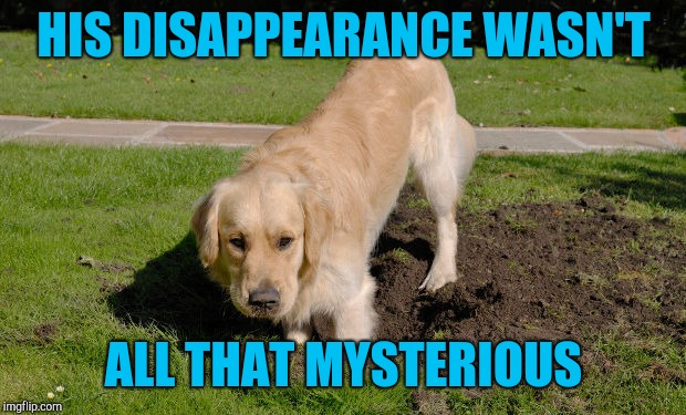 HIS DISAPPEARANCE WASN'T ALL THAT MYSTERIOUS | made w/ Imgflip meme maker