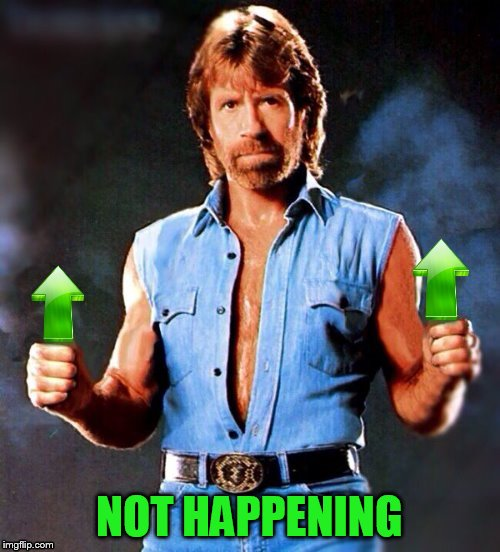 NOT HAPPENING | made w/ Imgflip meme maker