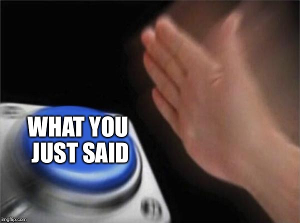 Blank Nut Button Meme | WHAT YOU JUST SAID | image tagged in memes,blank nut button | made w/ Imgflip meme maker