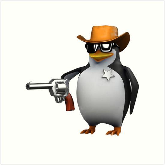6fd0de43ab589 High Quality Shut up penguin gun Blank Meme Template
