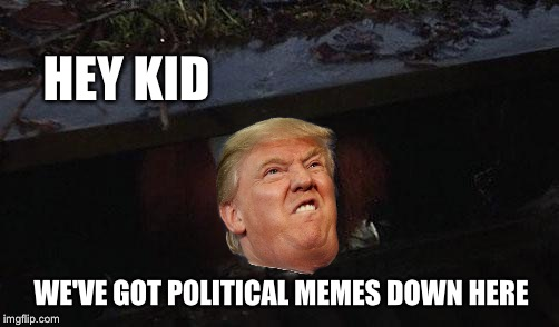 WE'VE GOT POLITICAL MEMES DOWN HERE HEY KID | made w/ Imgflip meme maker