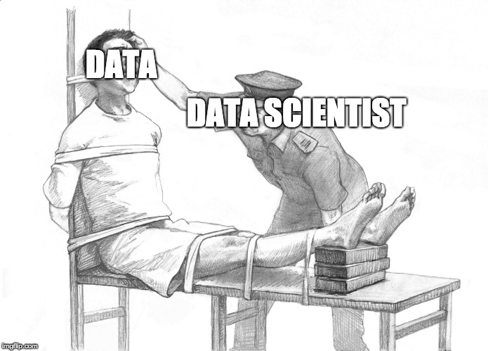 DATA DATA SCIENTIST | image tagged in torture | made w/ Imgflip meme maker