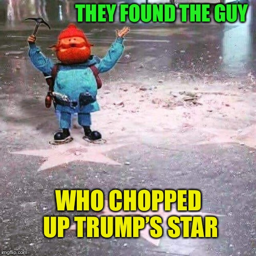 Star Destroyer | THEY FOUND THE GUY WHO CHOPPED UP TRUMP'S STAR | image tagged in trump,star,chopped,up,too funny,butthurt liberals | made w/ Imgflip meme maker