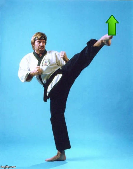 Chuck Norris Kick | image tagged in chuck norris kick | made w/ Imgflip meme maker